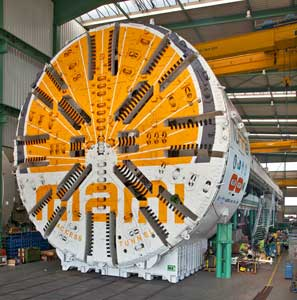 42ft (12.8m) HerrenknechtEPBM shipped from Schwanau