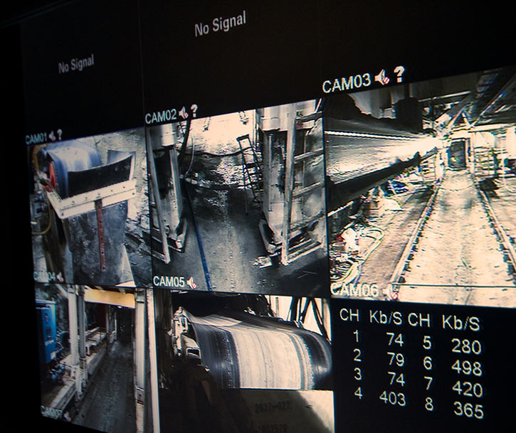 Cameras monitor all aspects of TBM and mucking out operations