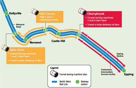 Four TBM drive strategy for NWRL tunnels