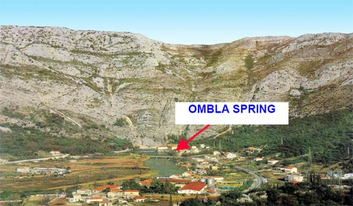 Fig. 2 Ombla spring outlets into Rijeka Dubrovacka Bay