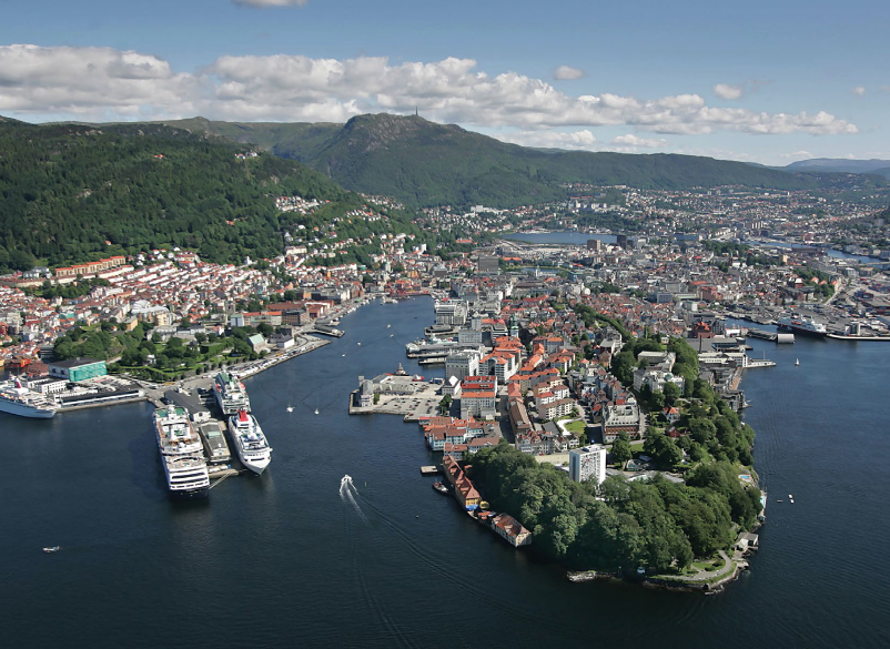 Bergen in Norway boasts a beautiful location